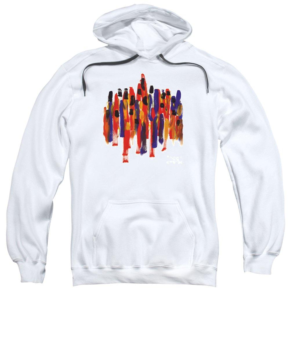 Teamwork Sweatshirt featuring the painting Teamwork by Bjorn Sjogren