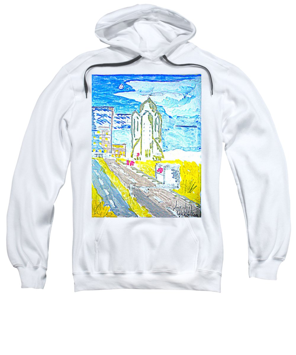 Space Center Sweatshirt featuring the painting Technology by Ayyappa Das