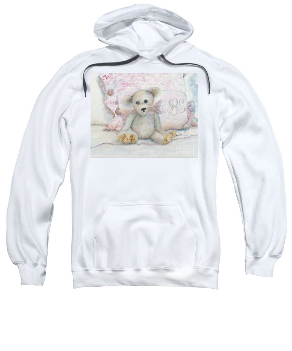 Teddy Bear Sweatshirt featuring the painting Teddy Friend by Nadine Rippelmeyer