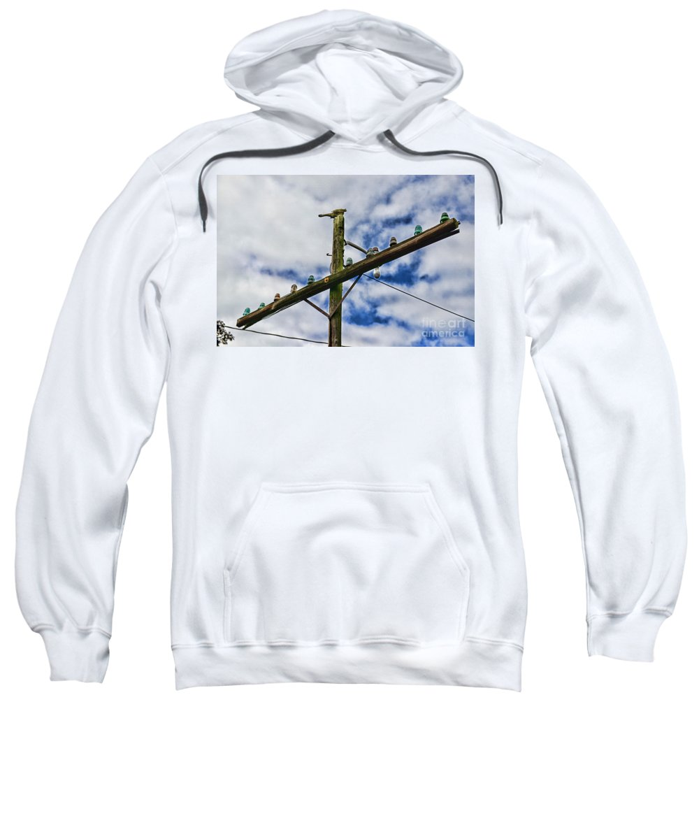 Paul Ward Sweatshirt featuring the photograph Telegraph Pole - Yesterdays Technology by Paul Ward