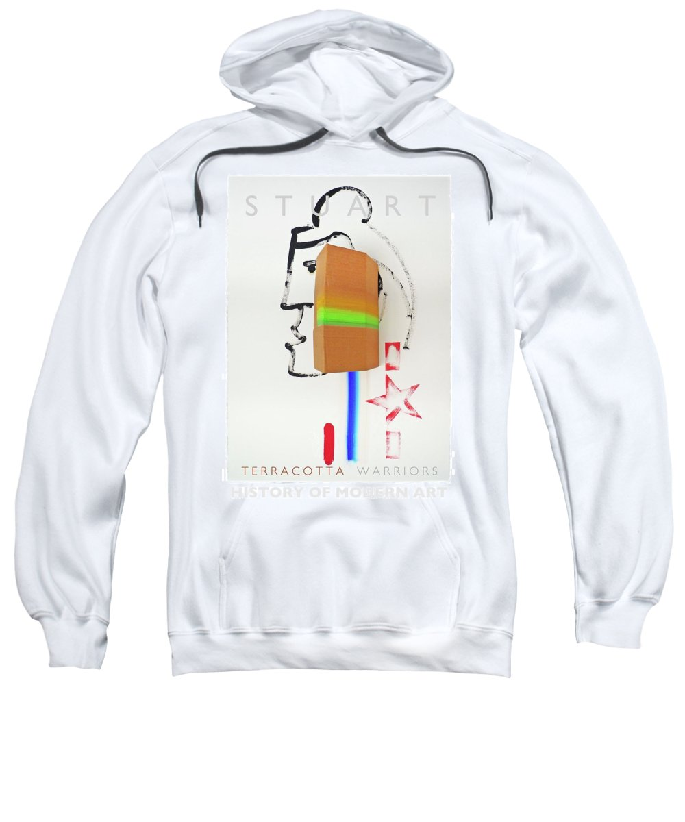 Primary Colors Sweatshirt featuring the painting Terracotta Army Poster by Charles Stuart