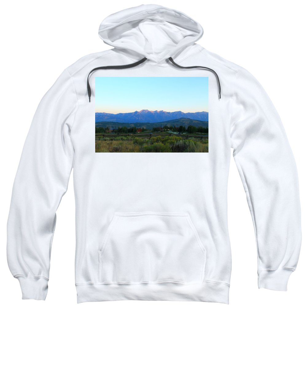 Jackson Hole Sweatshirt featuring the photograph Teton Light by Catie Canetti