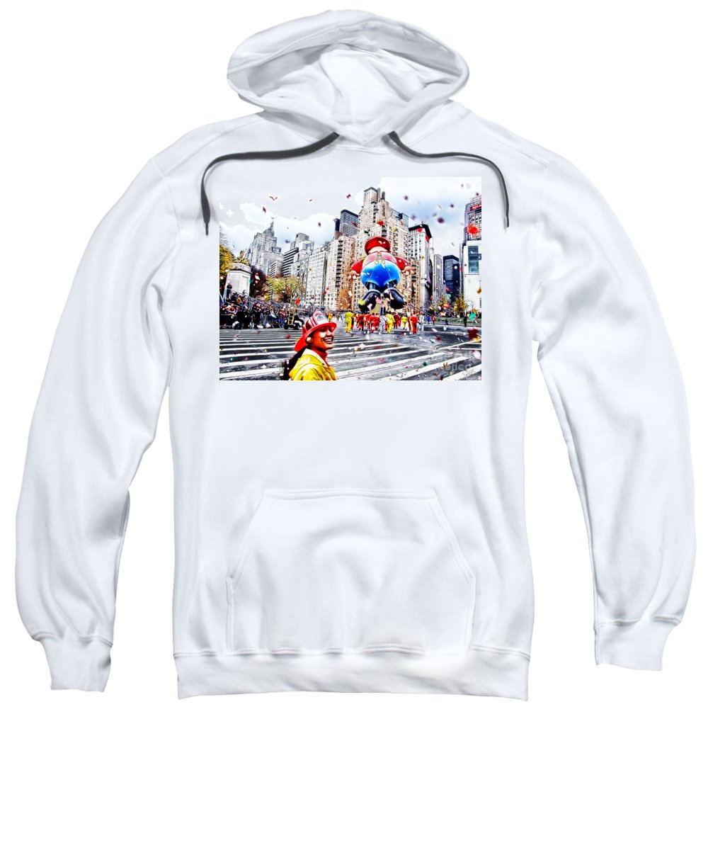 People Sweatshirt featuring the photograph Thanksgiving Parade by Nishanth Gopinathan
