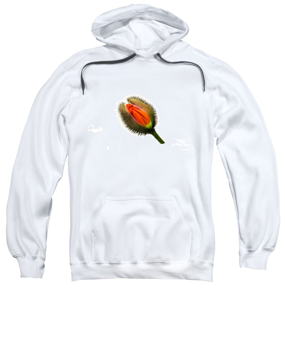 Poppy Sweatshirt featuring the photograph The Bud by HHelene