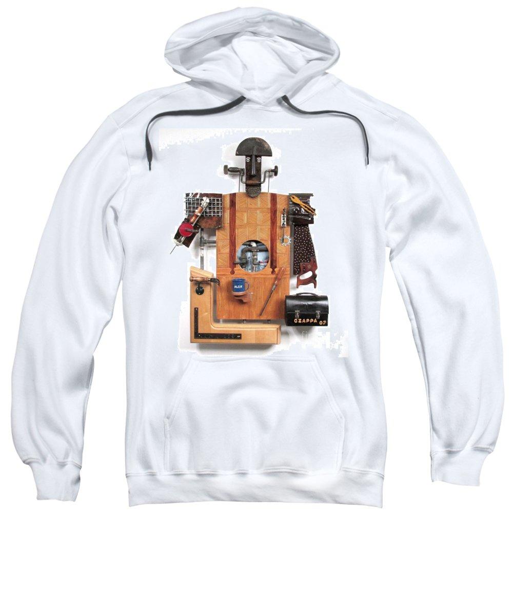 Czappa Sweatshirt featuring the sculpture The Carpenter  #16 by Bill Czappa