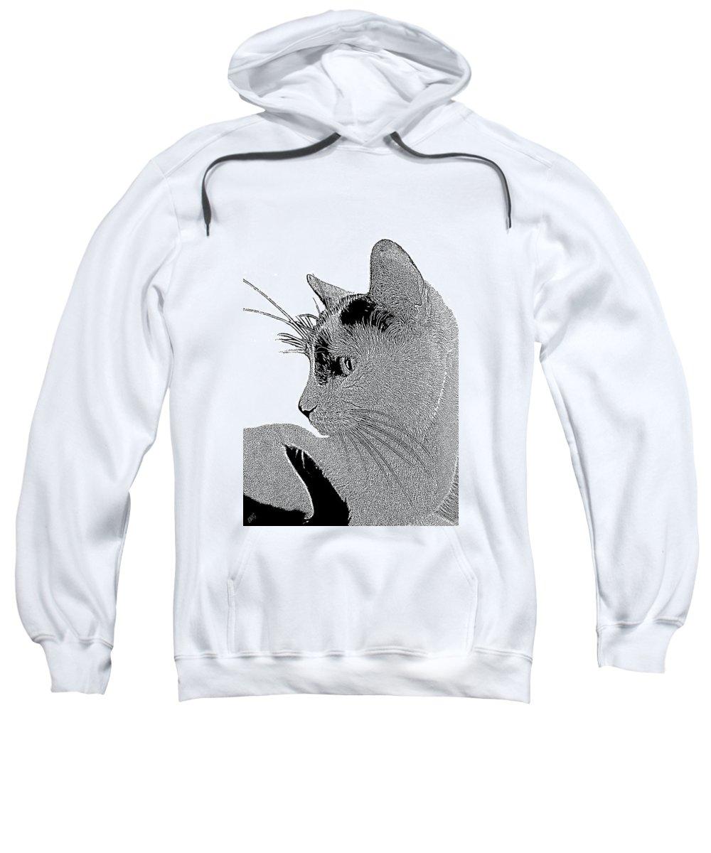 Cat Portrait Sweatshirt featuring the photograph The Cat by Ben and Raisa Gertsberg