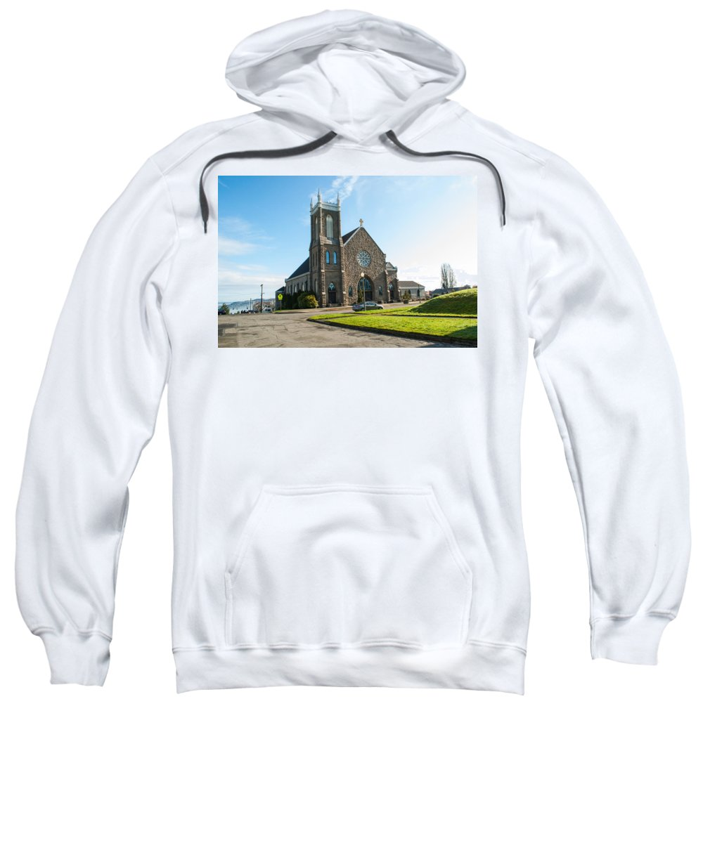 Church Sweatshirt featuring the photograph The Church Of Saint Patrick by Tikvah's Hope
