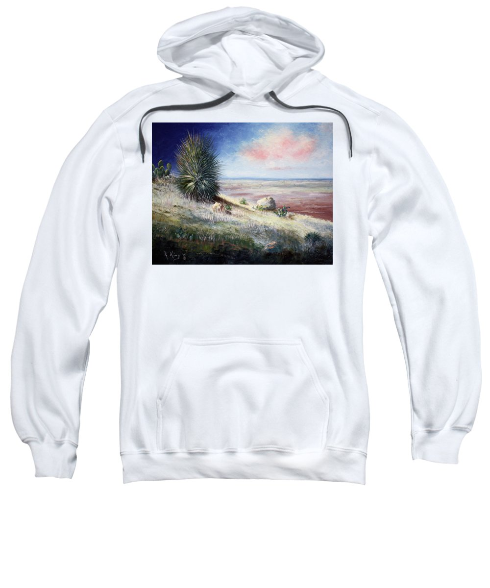 Roena King Sweatshirt featuring the painting The Colors Of Evening by Roena King