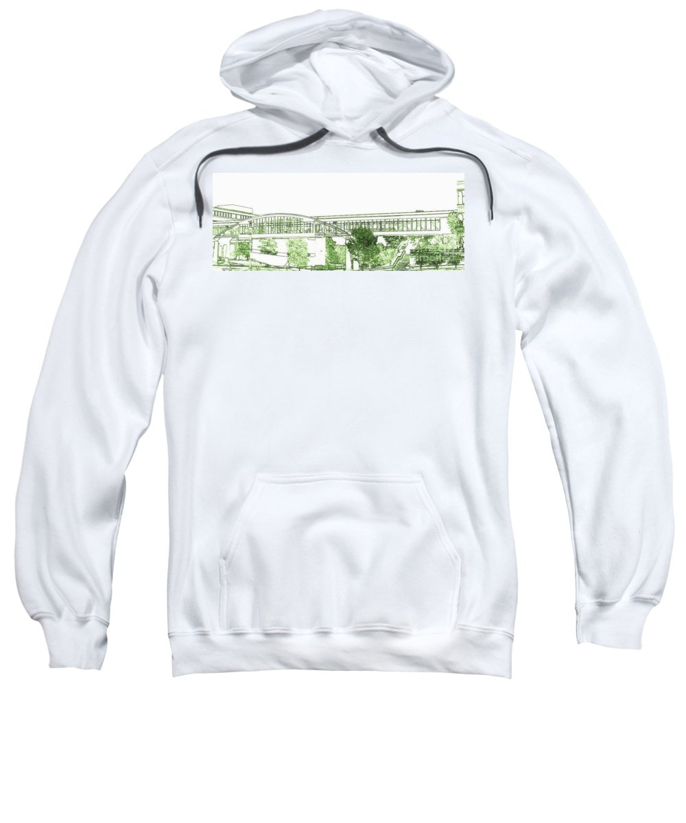 Sweatshirt featuring the photograph The Covered Bridge by Kelly Awad