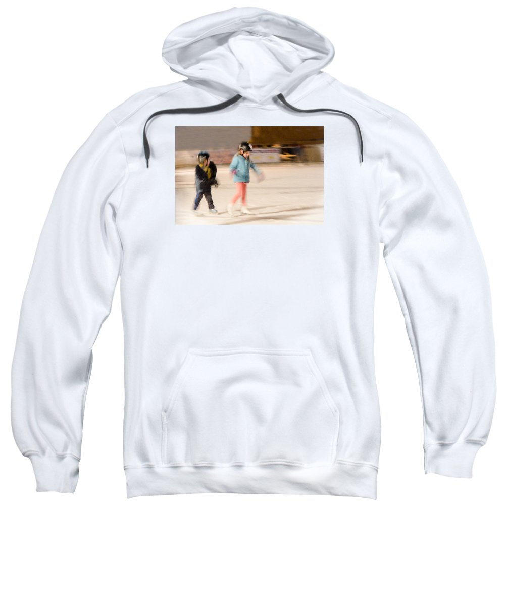 Red Arrow Park Sweatshirt featuring the photograph The Dreams Of Little Skaters by Susan McMenamin
