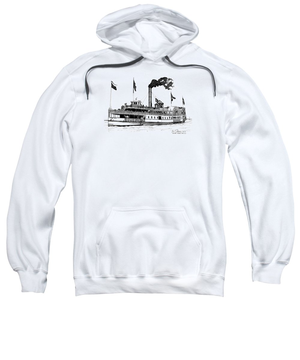 Drawings Sweatshirt featuring the drawing The Emma Giles by Ira Shander