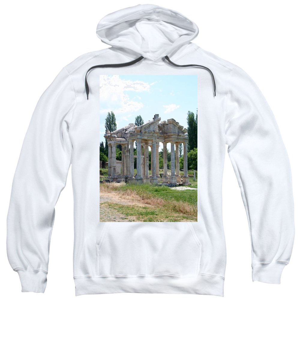 Aphrodisias Sweatshirt featuring the photograph The Four Roman Columns Of The Ceremonial Gateway by Taiche Acrylic Art