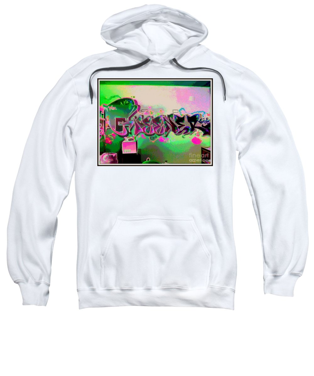 Sweatshirt featuring the photograph The Greener Side Posterized And Framed by Kelly Awad