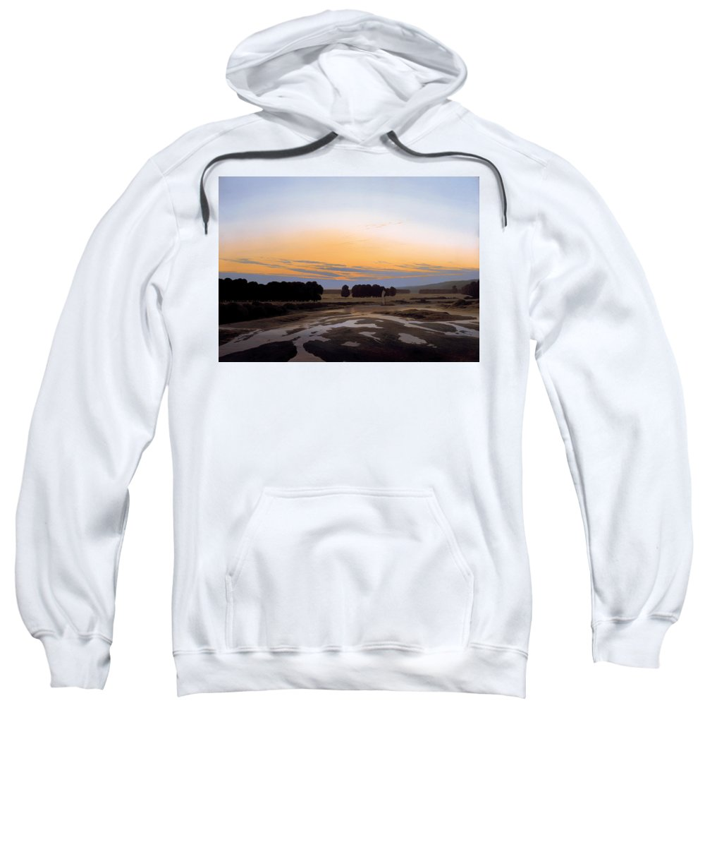 Painting Sweatshirt featuring the painting The Grosse Gehege Near Dresden by Mountain Dreams