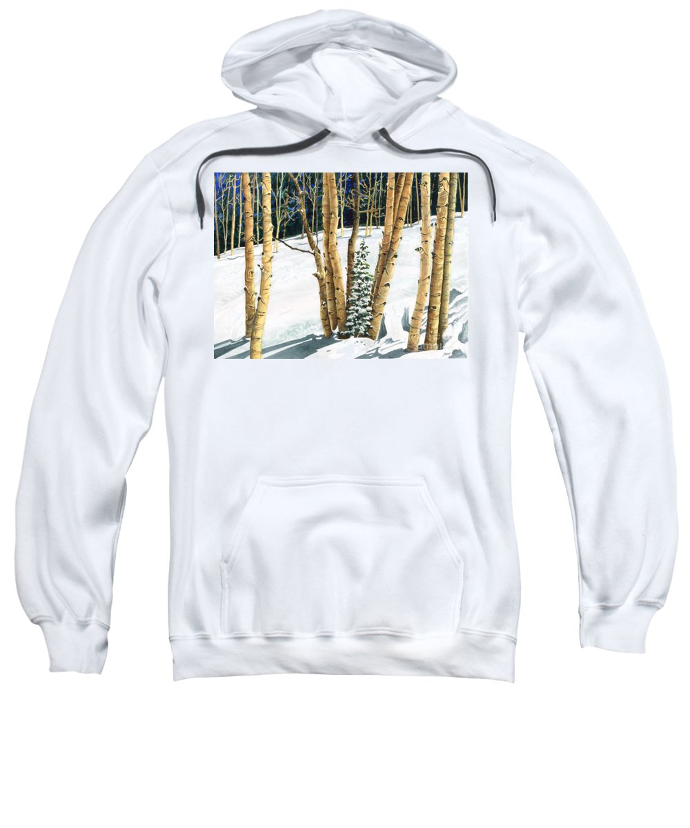 Water Color Paintings Sweatshirt featuring the painting The Guardians by Barbara Jewell