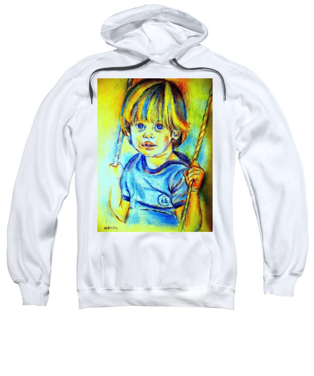 Child Sweatshirt featuring the drawing The Hammock by Helena Wierzbicki