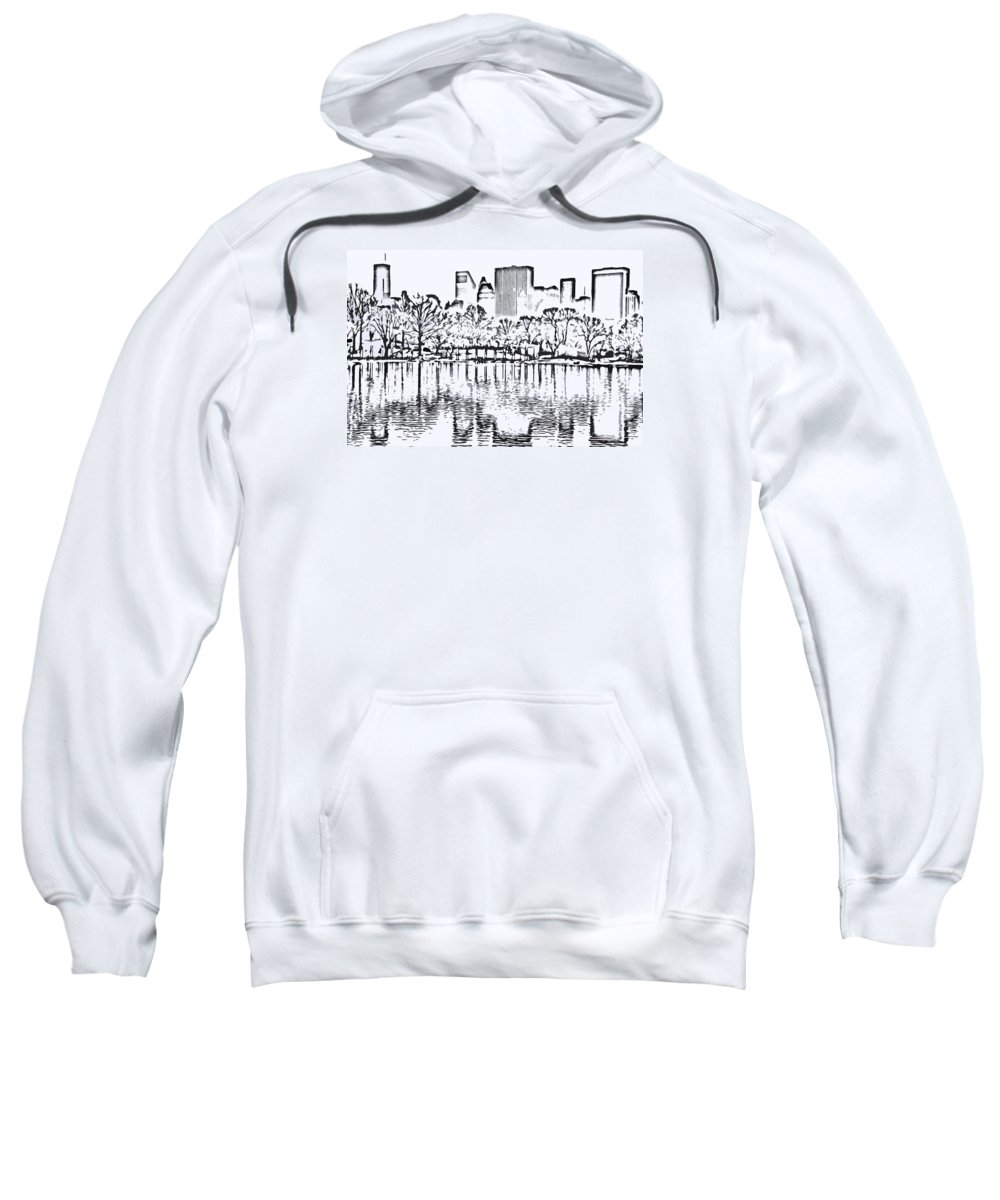 City Sweatshirt featuring the photograph The Lake by Andre Aleksis