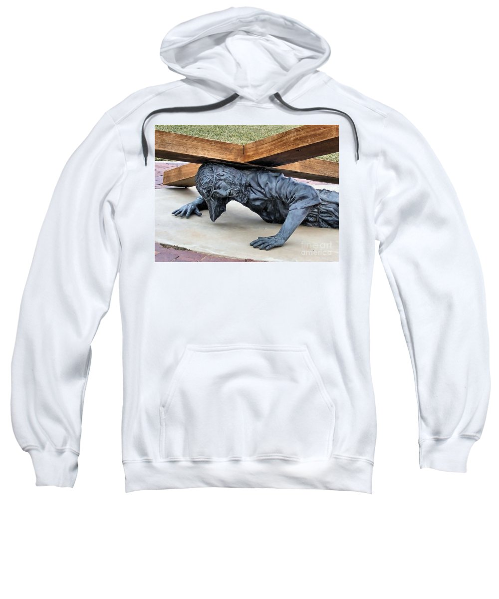 Fall Sweatshirt featuring the photograph The Last Fall by Patti Smith