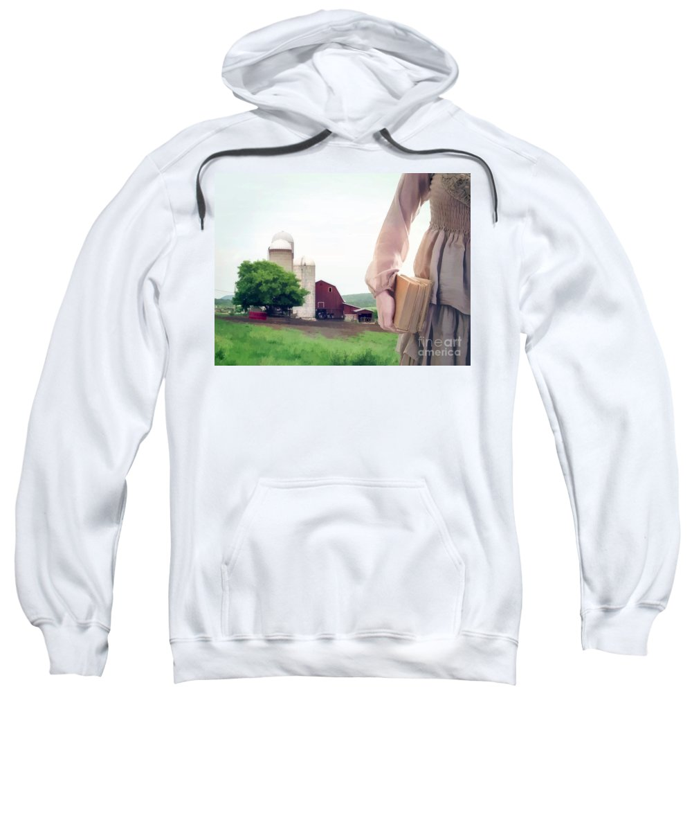 Farm Sweatshirt featuring the photograph The Long Walk To School by Edward Fielding