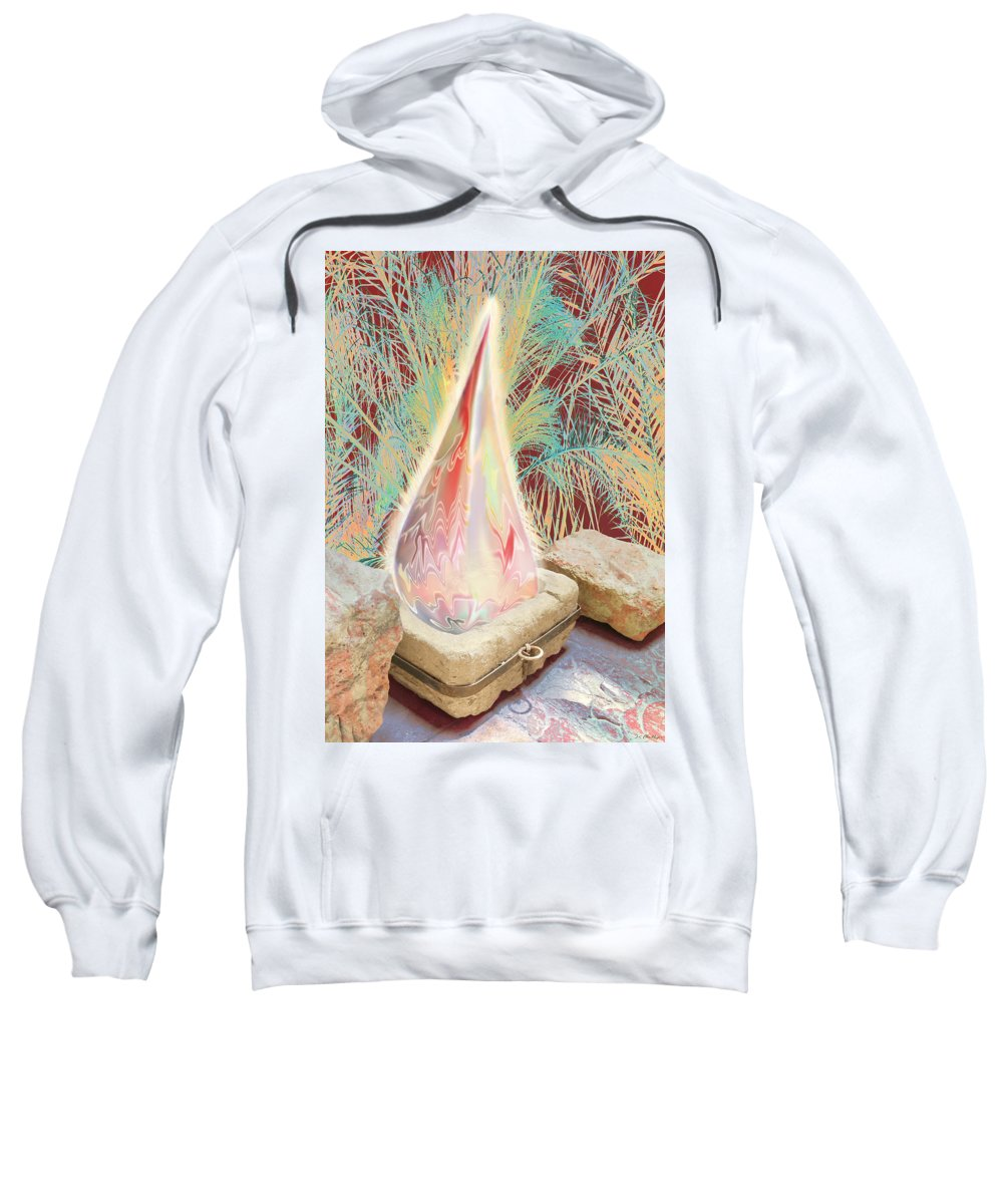 Manger Sweatshirt featuring the digital art The Manger Is Empty But The Light Still Shines by Jennifer Kathleen Phillips