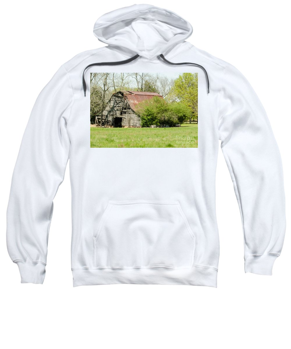 Barn Sweatshirt featuring the photograph The Old Barn by Donna Brown