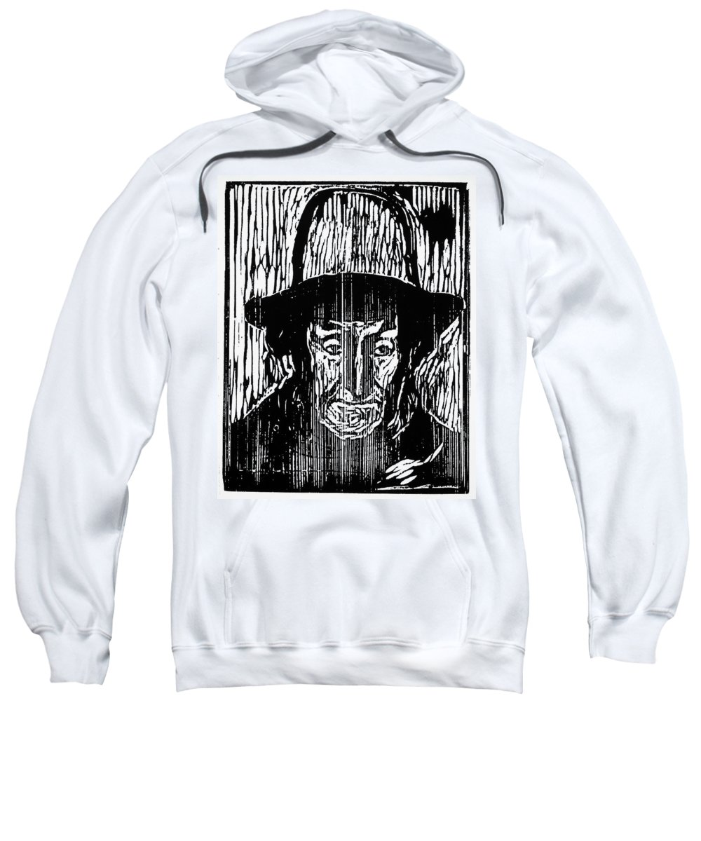 1899 Sweatshirt featuring the painting The Old Fisherman, 1899 by Granger