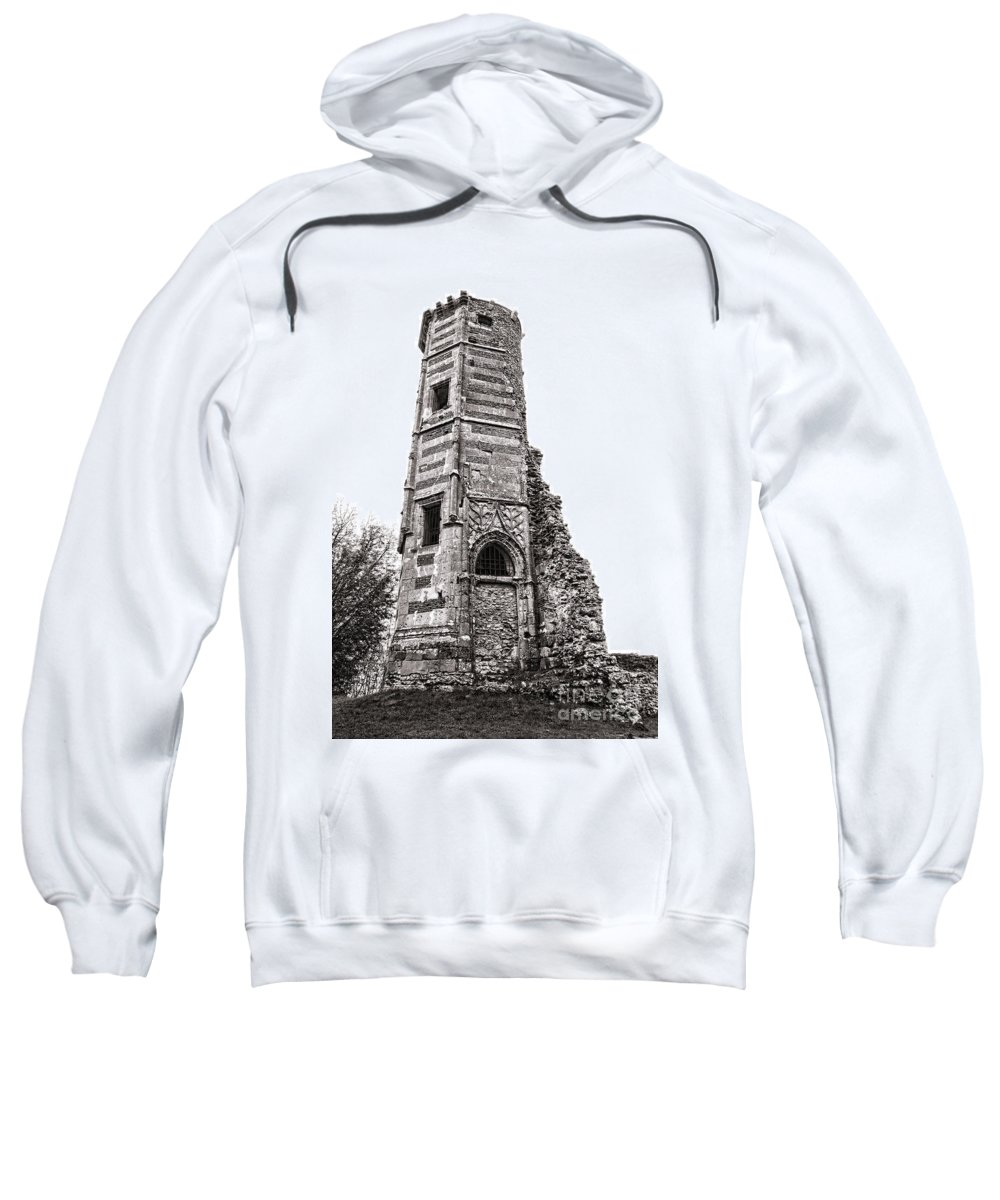 Aged Sweatshirt featuring the photograph The Old Tower by Olivier Le Queinec