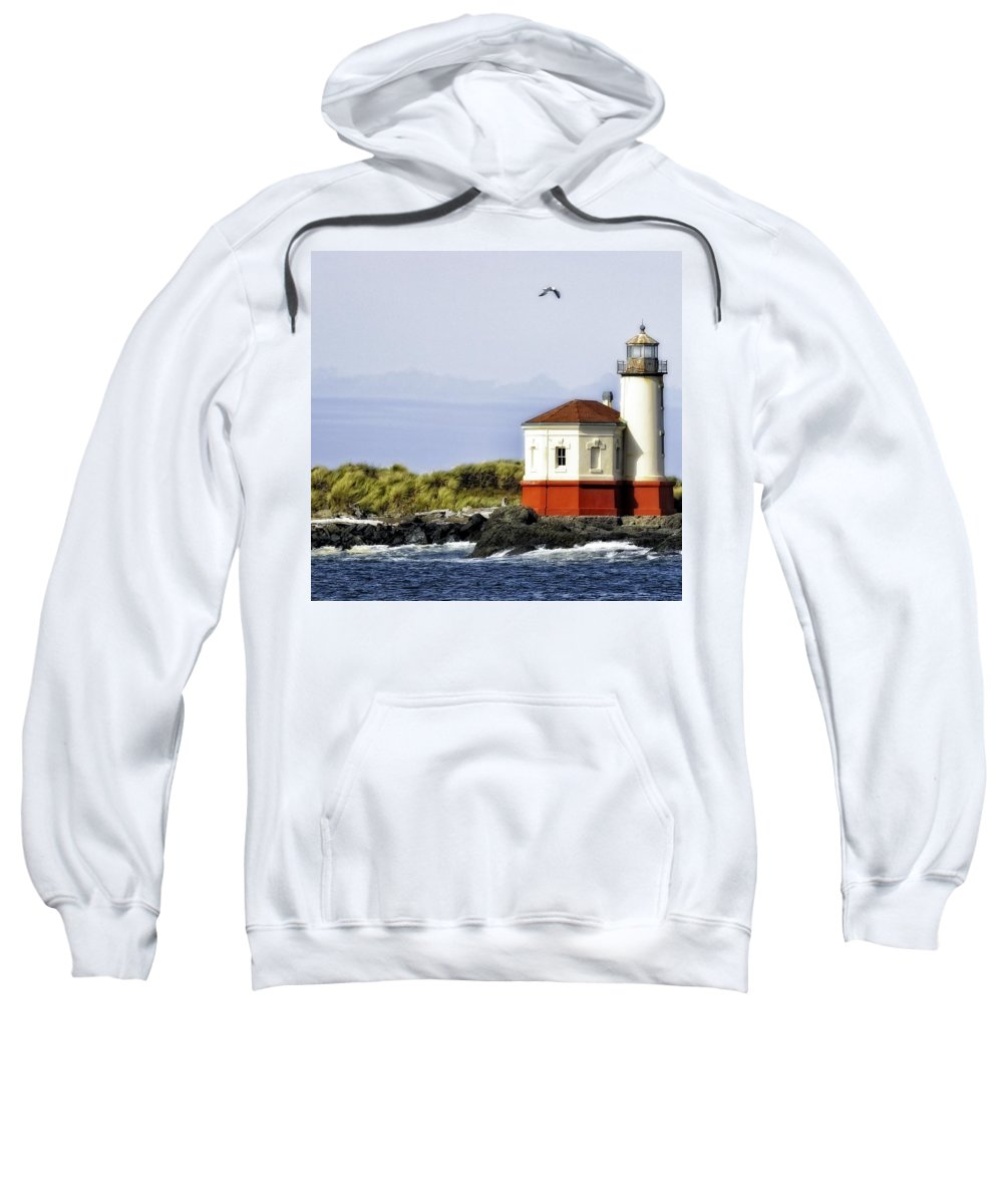 Bandon Sweatshirt featuring the photograph The Other Side Of The Coquille River by Image Takers Photography LLC - Laura Morgan