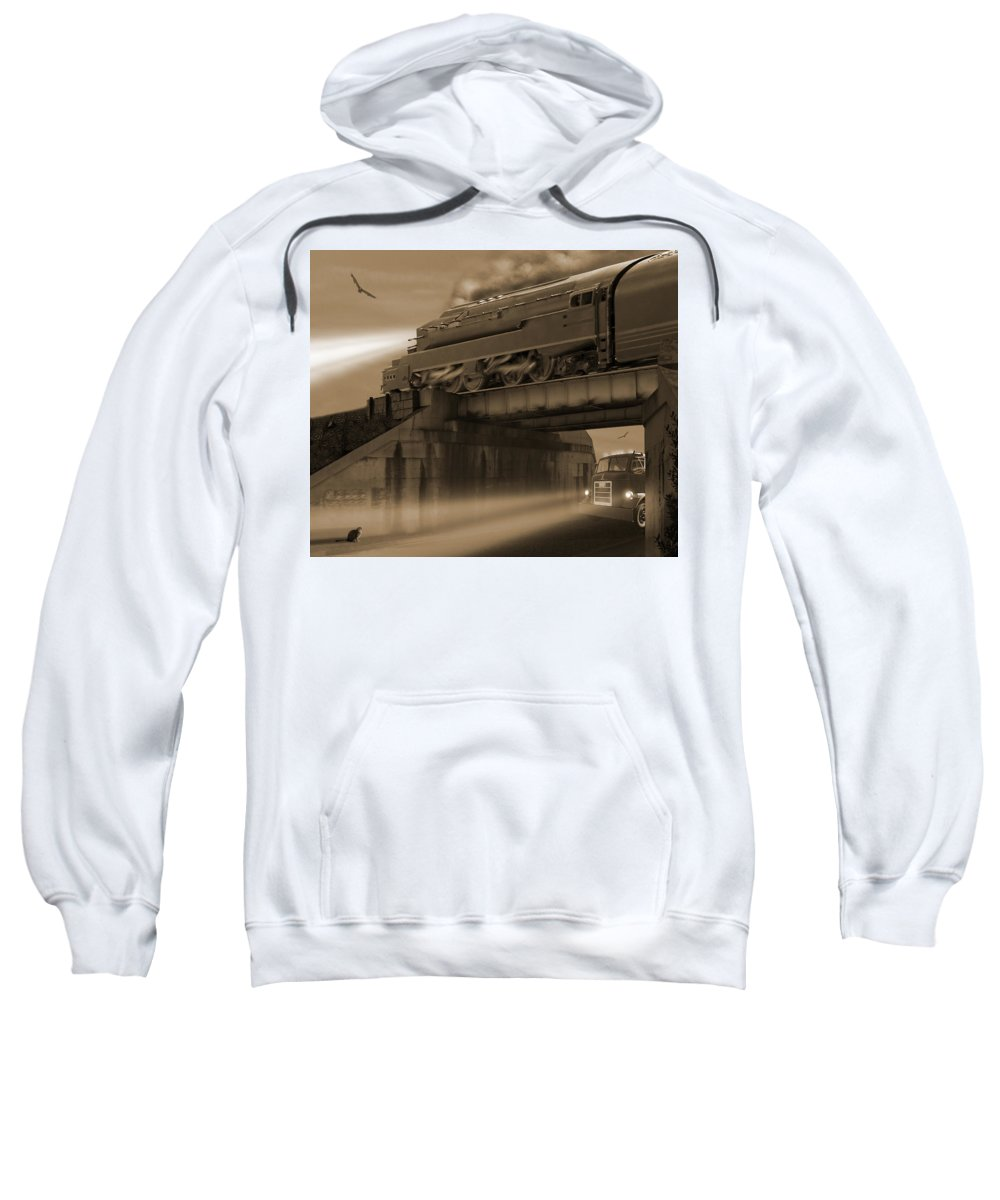 Transportation Sweatshirt featuring the photograph The Overpass 2 by Mike McGlothlen