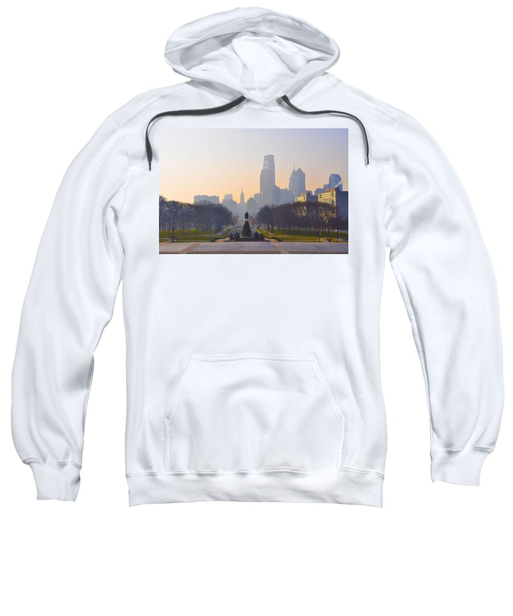 Parkway Sweatshirt featuring the photograph The Parkway In The Morning by Bill Cannon