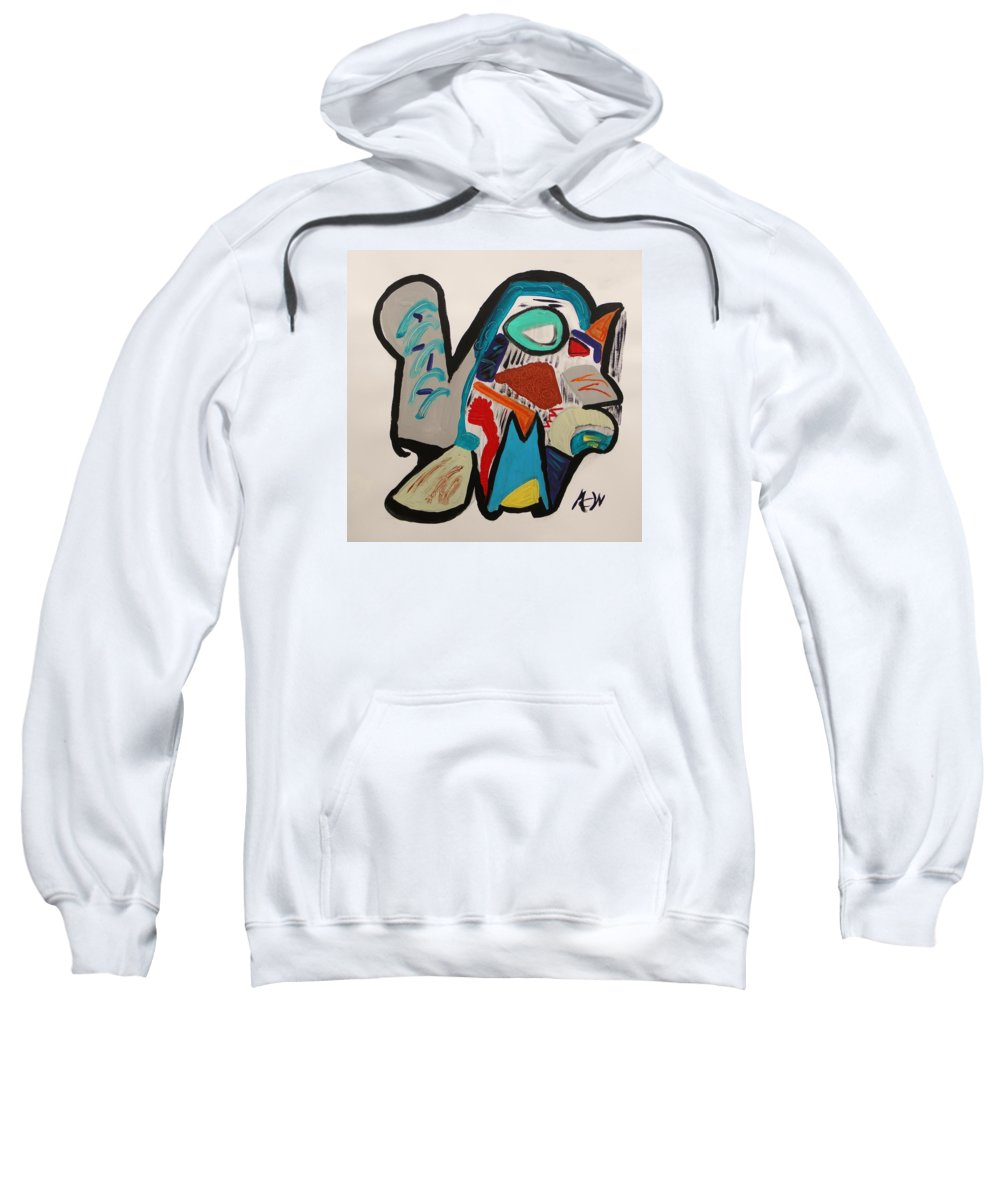 Abstract Sweatshirt featuring the painting The Path Of Vision by Mary Carol Williams