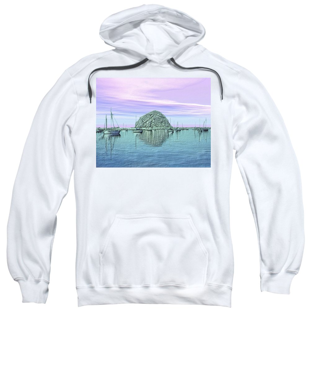 Seascape Sweatshirt featuring the photograph The Rock by Kurt Van Wagner