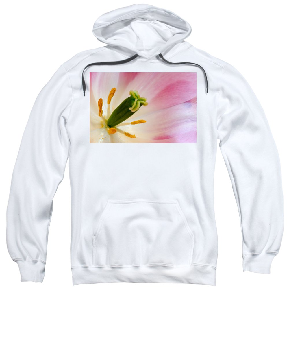 Tulip Sweatshirt featuring the photograph The Stamen by Georgette Grossman