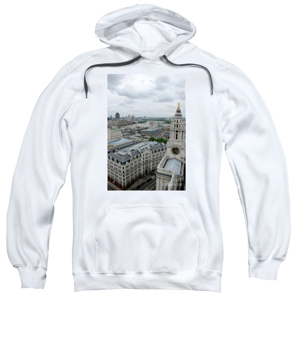 St Paul's Cathedral London Thames London Eye Sweatshirt featuring the photograph The Thames From St Paul's by Richard Gibb