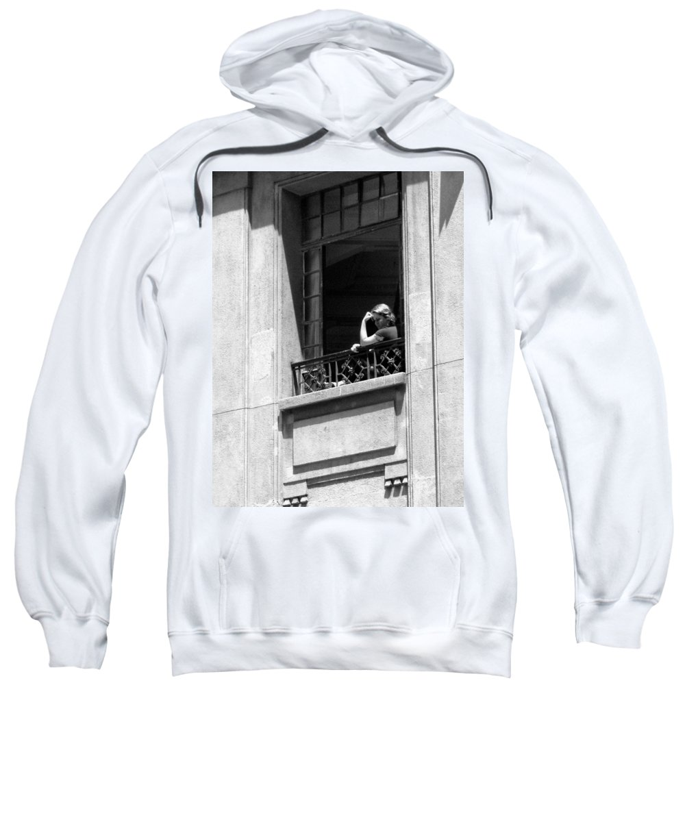 Thinker Sweatshirt featuring the photograph The Thinker - Sao Paulo by Julie Niemela
