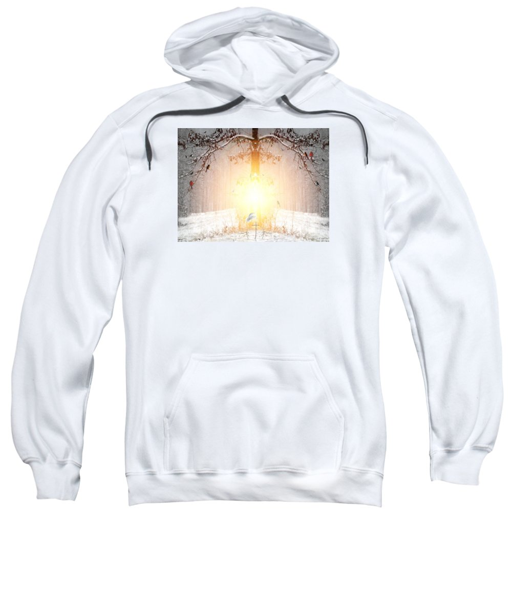 Winter Sweatshirt featuring the digital art The Tree Of Life by Bill Stephens