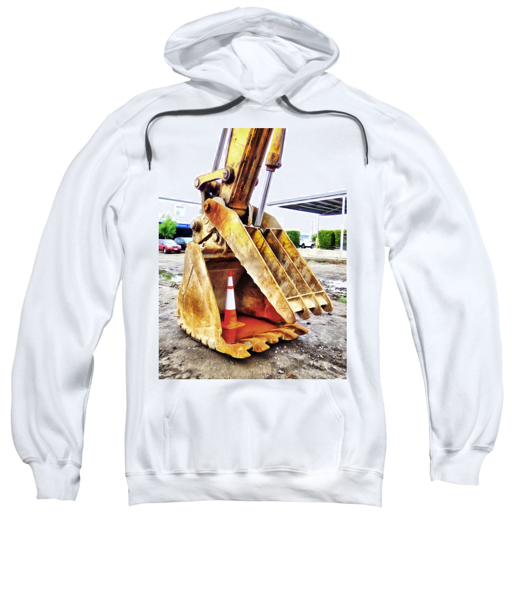 Christchurch Sweatshirt featuring the photograph They Get Everywhere by Steve Taylor