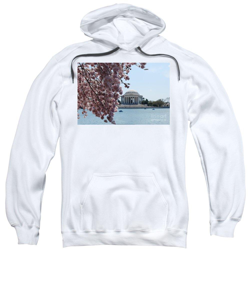 Memorial Sweatshirt featuring the photograph Thomas Jefferson Memorial by DejaVu Designs