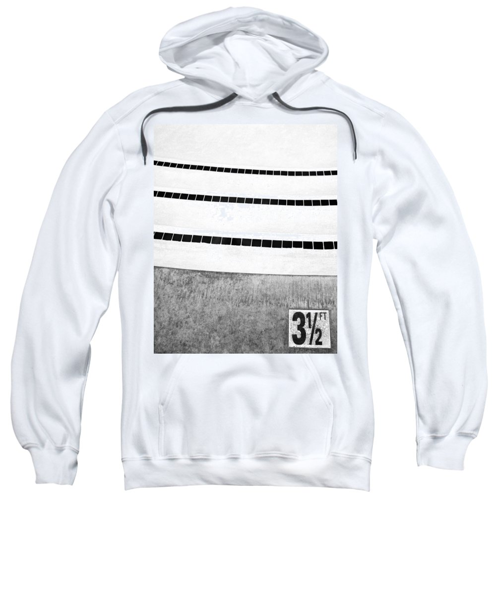 V Sweatshirt featuring the photograph Three And A Half Bw Palm Springs by William Dey
