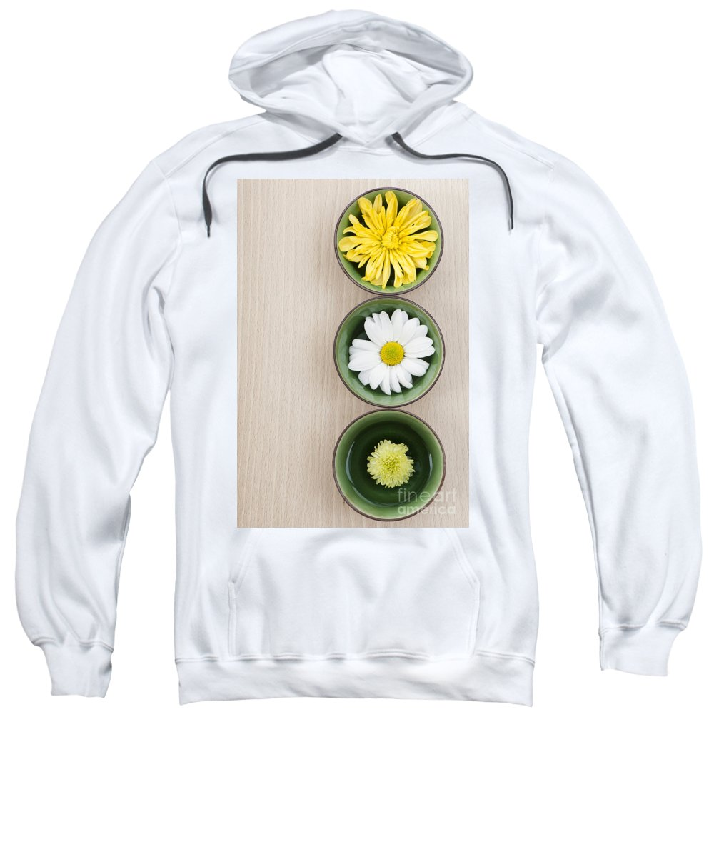 3 Sweatshirt featuring the photograph Three by Anne Gilbert
