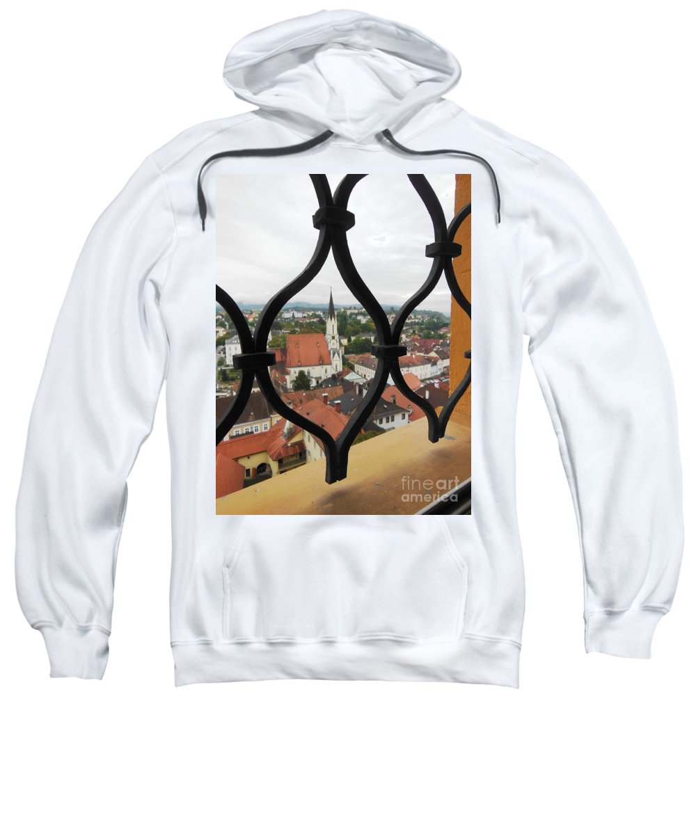 Window Sweatshirt featuring the photograph Through The Grates by Lisa Kilby