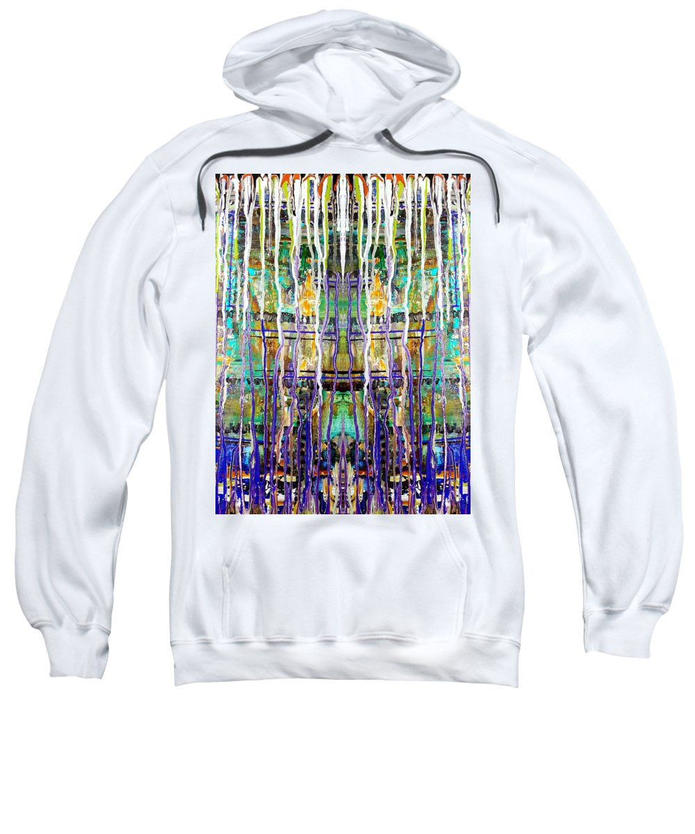 Rain Sweatshirt featuring the painting Thru The Storm 4 by Tina Vaughn