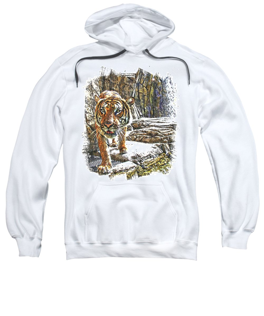 Tiger Sweatshirt featuring the photograph Tiger View by Alice Gipson