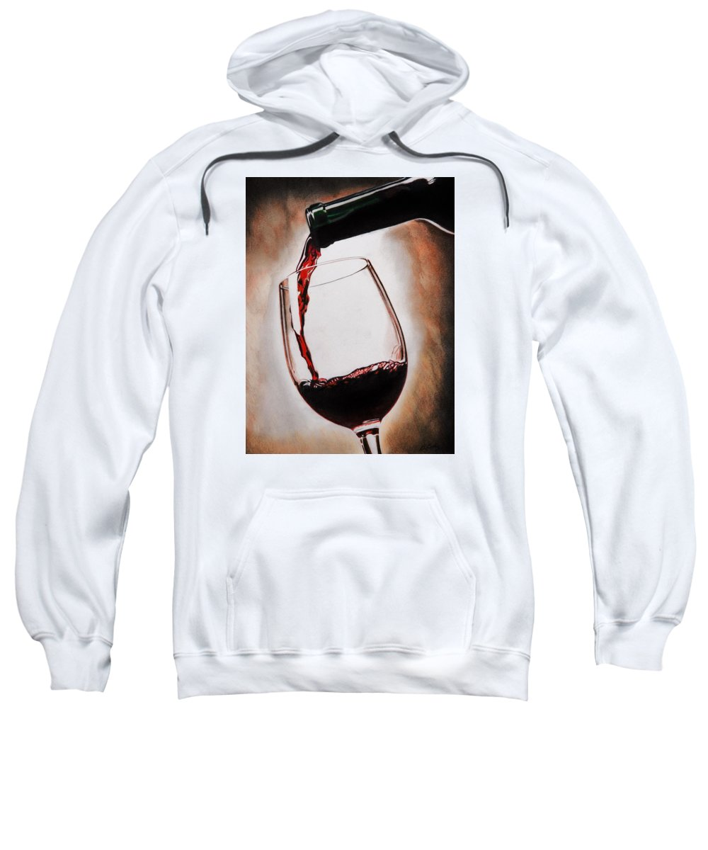 Wine Sweatshirt featuring the painting Time For Wine by Brian Broadway