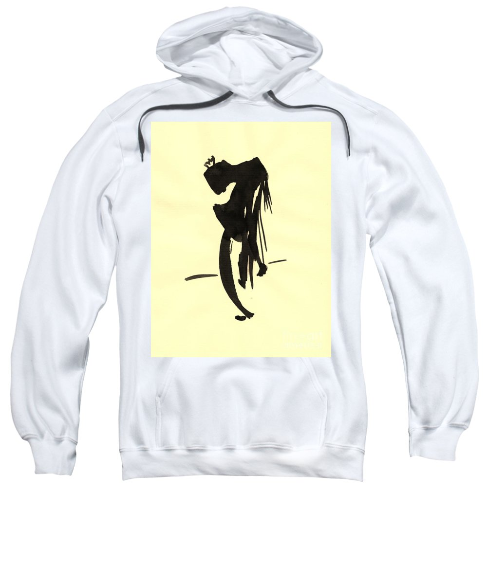 Illustration Sweatshirt featuring the drawing Tired King by Karina Plachetka
