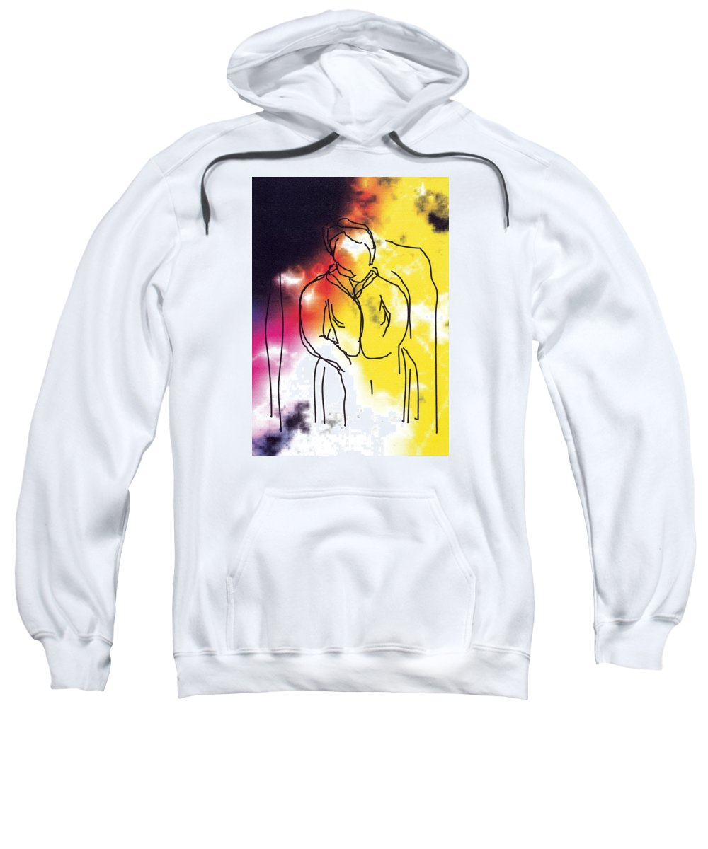 Together Sweatshirt featuring the digital art Together by Bjorn Sjogren