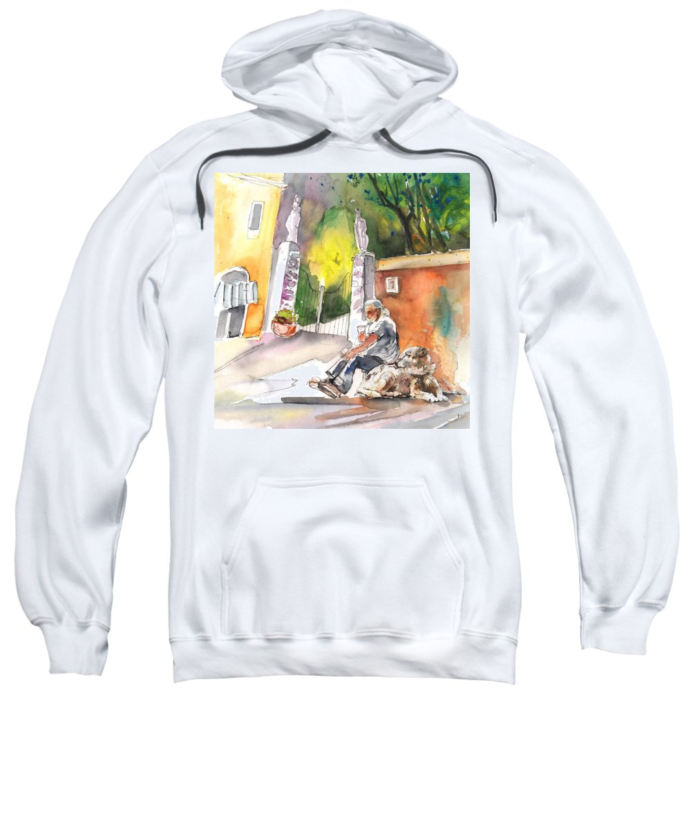 Italy Sweatshirt featuring the painting Together Old In Italy 04 by Miki De Goodaboom
