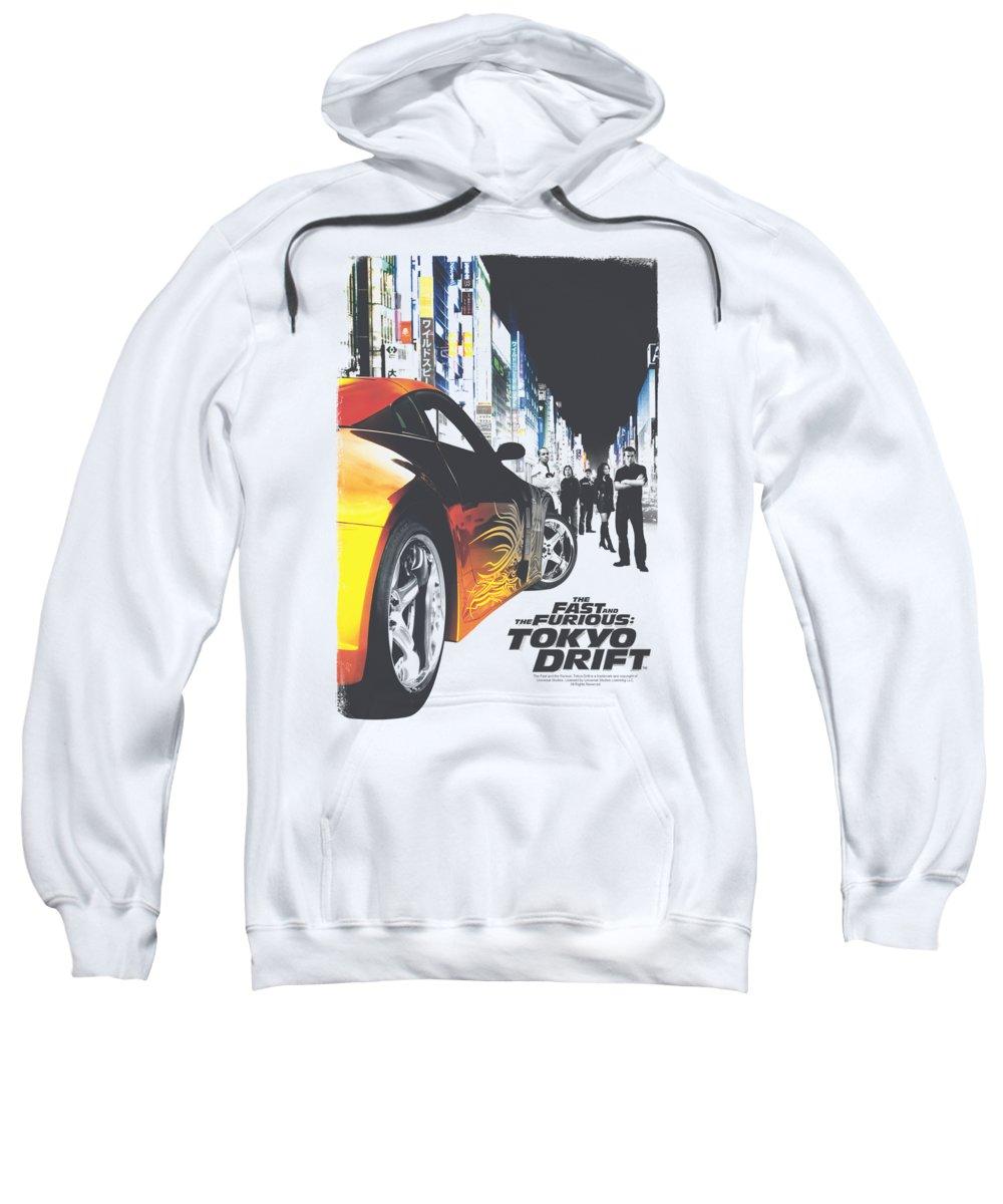 Tokyo Drift Sweatshirt featuring the digital art Tokyo Drift - Poster by Brand A