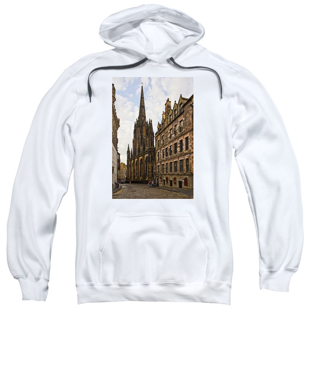 Architecture Sweatshirt featuring the photograph Tolbooth St Johns Kirk by Marcia Colelli
