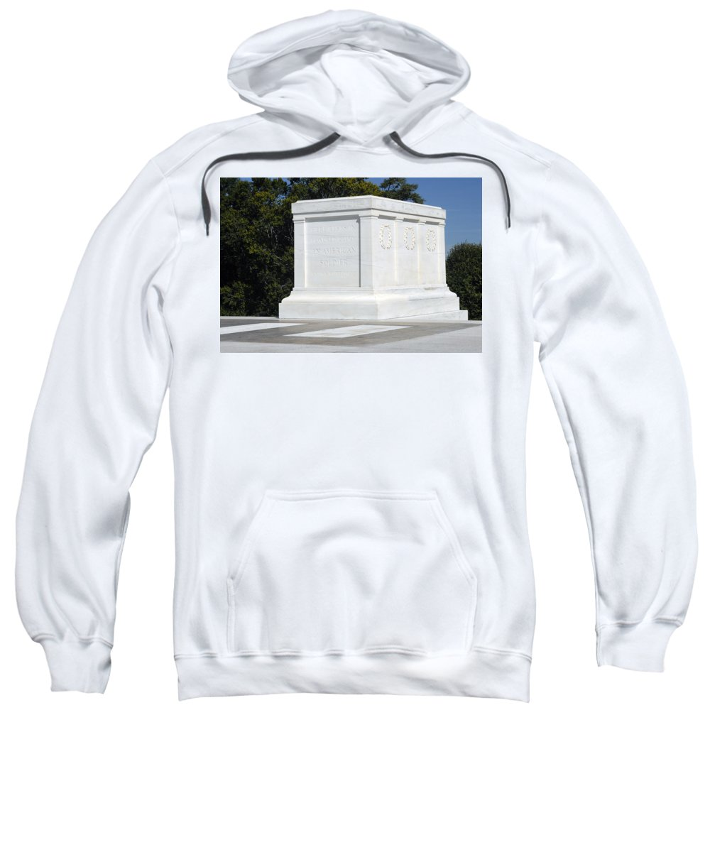 Arlington National Cemetery Sweatshirt featuring the photograph Tomb Of The Unknown Soldier by Paul W Faust - Impressions of Light